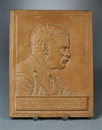 plaque of teddy roosevelt by james earle fraser