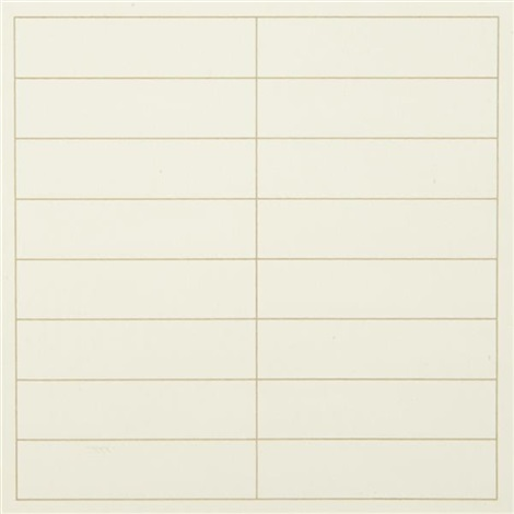 on a clear day one plate by agnes martin