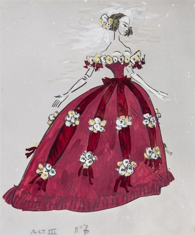 costume design for la traviata act iii by cecil beaton