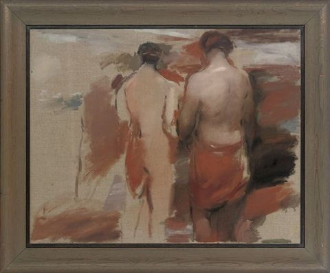 landscape with figures women of troy study by barry atherton