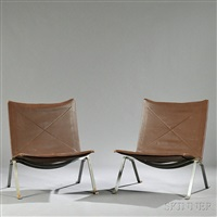pair of poul kajerholm pk22 chairs by poul kjaerholm