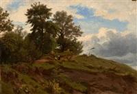 vue de la forêt de fontainebleau by francois antoine leon fleury