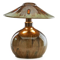 rare vasekraft lamp by fulper pottery