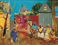 mecklenburg gospel morning by romare bearden