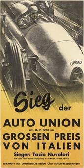 sieg der auto union, grossen preis von italien by victor mundorff