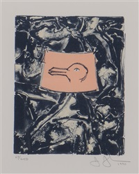 untitled (duck) (from the harvey gantt portfolio) by jasper johns