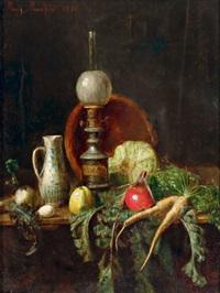 küchenstilleben mit petroleumlampe by moritz mansfeld