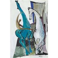 zirkusartisten auf zwei pferden by nag arnoldi