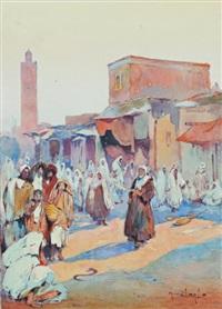 la place djemaa el fna à marrakech by marius hubert-robert
