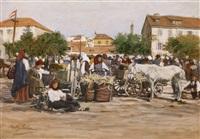 ein marktplatz by johann nepomuk geller