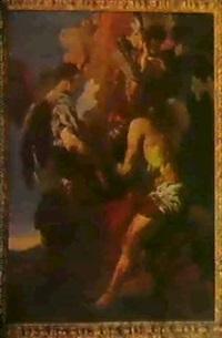 die inspiration des heiligen hieronymus by jan (pan) von lis