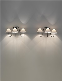 three-armed bouquet wall lights (pair) by jean royère