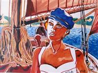 jeune femme sur le bateau by nicolas vial