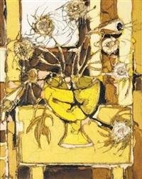 proteas in vase by aileen lipkin