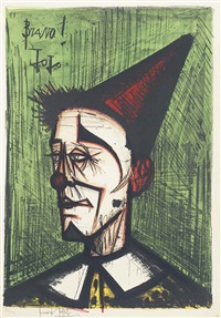 le clown jojo, from: mon cirque by bernard buffet