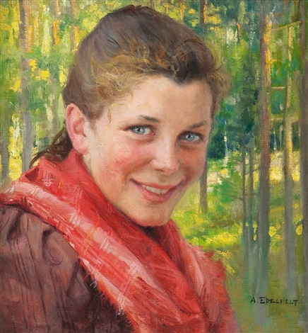 a girl from porvoo a farmers daughter from uusimaa by albert edelfelt
