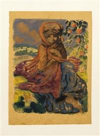 l'adolescente orientale by georges manzana-pissarro