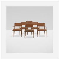 dining chairs (set of 6) by tommi parzinger