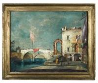 venetian canal scene by francesco guardi