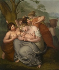 mythologische szene by johan josef langenhöffel