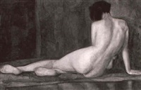 a reclining nude by raoul lejeune