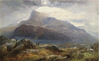 moel siabod from near capel curig, north wales by charles pettitt