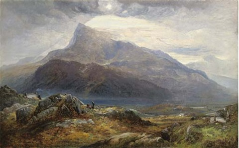 moel siabod from near capel curig north wales by charles pettitt