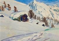 raccards sous la neige by albert nyfeler