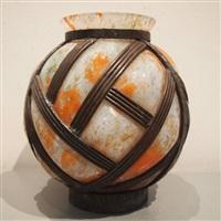 vase boule art-déco by le lorrain