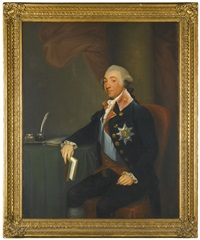 portrait of thomas taylour, 1st earl of bective, wearing the star and sash of the order of st. patrick (collab. w/studio) by gilbert stuart