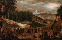 ingresso di cristo in gerusalemme by lucas van valkenborch