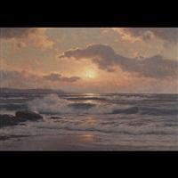 golden sunset by carl kenzler