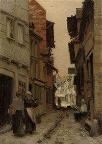 a normandy street by marie cazin