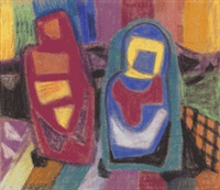 zwei figuren by ida kerkovius