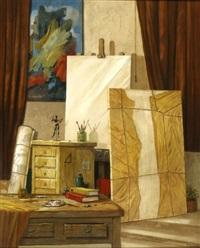 artist studio by moni leibovitch
