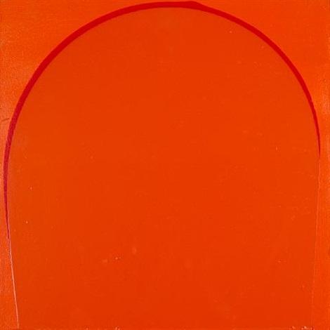 poured painting: orange, red, orange by ian davenport