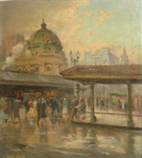 flinders street station and princess bridge, melbourne by charles salis lloyd