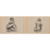 eight offset lithographs of female nudes from
