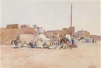 la halte des chameaux by paul alexandre alfred leroy