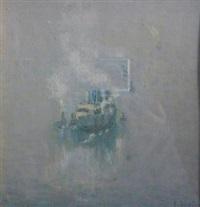 steamship at sea by charles vezin
