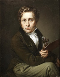 self-portrait of the artist by johann christian ziegler
