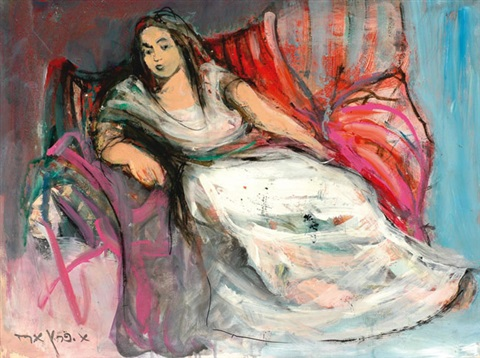 seated woman by esther peretz arad