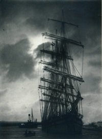 untitled (ship in harbour) by pierre dubreuil