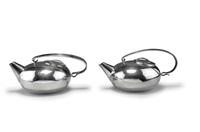 paar teekannen 'boule by lino sabattini