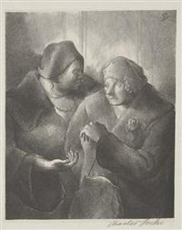 the realtor (+ two women shoppers; 2 works) by charles wheeler locke