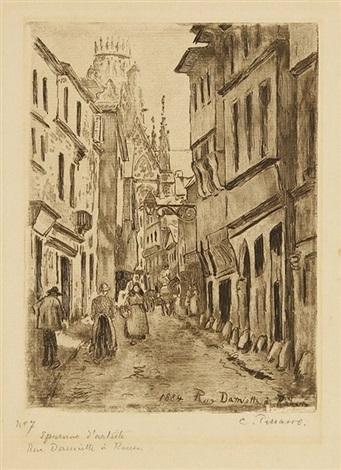 rue damiette à rouen by camille pissarro