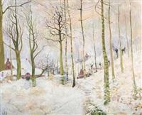 paysage hivernal by edmond verstraeten