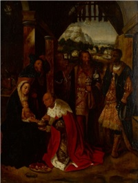 adoration of the magi by adriaen isenbrant