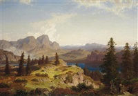 a view in the dolomites by cäsar metz