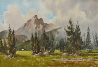passing storm, teton national park by lowell ellsworth smith